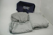 YnM Weighted Blanket & Hot Cold Duvet Cover Set 3 Pieces Light Grey King 20lbs