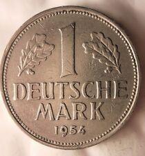 1954 J GERMANY DEUTSCHE MARK - Key Date - FREE SHIP WORLDWIDE - HV13