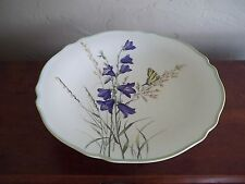 Beautiful Krautheim Sels Bavaria Porcelain Footed Compote Butterfly & Floral