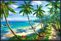 Coconut Grove Beach - Chart Counted Cross Stitch Patterns Needlework DIY DMC