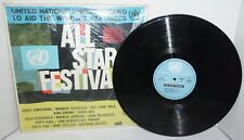 1963  All Star Festival Vinyl LP Record United Nations Aid World's Refugees