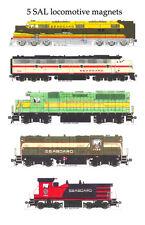 Seaboard Air Line Locomotives 5 magnet set Andy Fletcher