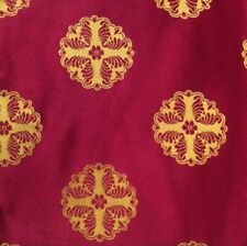 DESIGNERS GUILD Oriel Arundale Silk India Red Gold Remnant New