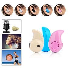 Mini senza fili Bluetooth 4.0 Stereo cuffie In-Ear Auricolari Singolo Blu