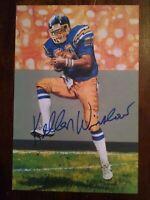 Kellen Winslow San Diego Chargers signed HOF Goal Line Art Card (GLAC)