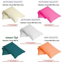 Standard Size Plain Dyed Poly Cotton Housewife Single/Pair Bed Room Pillow Cases