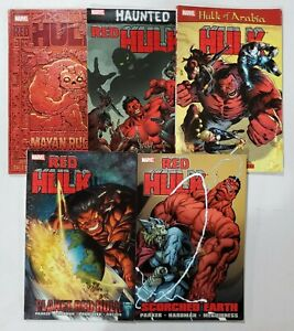 Red Hulk - lot of 5 graphic Novels Planet Hulk Arabia Haunted Scorched USED (b2)