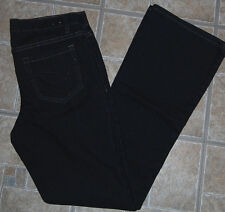 Fashion Bug jeans 8 bootcut stretch dark blue denim pants womens spandex