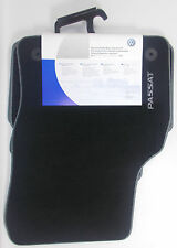 GENUINE VW PASSAT B8 3G FRONT + REAR LUXURY VELOUR BLACK CARPET FLOOR MATS SET