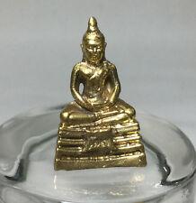 Miniature Figurine Brass Statue of Buddha Metalwork Art #6