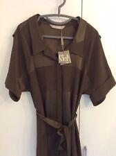 Planet Khaki Green Shirt Dress With Tie Belt Size 8 Uk BNWT