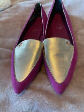 Ted Baker London Womens Pink/Gold Flats Size 40