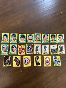 1981 Topps Superman 2nd Movie ~ Complete Sticker Set Of 22