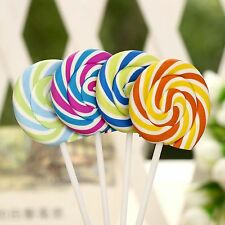 Colorful Candy Lollipop Rubber Pencil Eraser Kids Students Stationery Gift Toy