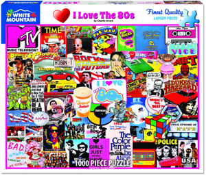 I Love the 80s 1000 Piece Jigsaw Puzzle 760mm x 610mm (wmp)