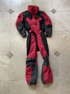 VTG The North Face TNF Extreme Light Red Black One Piece Suit Size 10