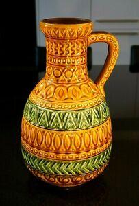 Stunning Large Vintage West German Fat Lava Vase