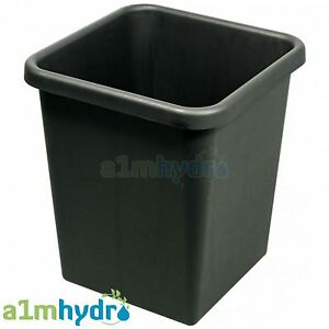 Autopot 15 Litre Black Plastic Square Spare Pot For Grow System Hydroponics