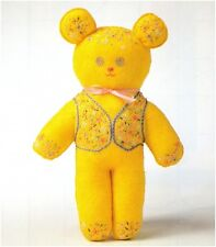Brodé Teddy bear soft toy vintage sewing pattern S10008 pas fini de l'objet