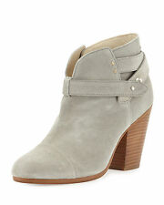NIB $525 Rag & Bone 'Harrow' Suede Ankle Boots in Light Gray - size 40 / 10!