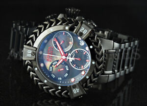 Invicta 43mm Reserve Hercules Swiss Chronograph BLACK LABEL MOP Dial SS Watch