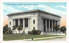 Texas postcard Port Arthur Gates Memorial Library