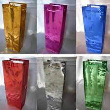 More details for luxury paper wine bottle bags gift carrier christmas wedding wholesale 35cmx12cm