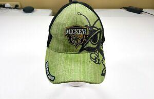 Mickey's Fine Malt Liquor Straw/Polyester Adjustable 2004 Mesh Back Hat