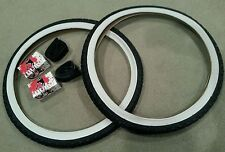 2 TUBES & 2NEW DURO BEACH CRUISER BICYCLE TIRES,26X2.125,SCHWINN TYPE KNOBBYS
