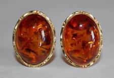 Amber Yellow Gold Fine Earrings