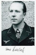 Luftwaffe German Knights Cross Franz Kieslich 1078 Missions 10 ships sunk SIGNED