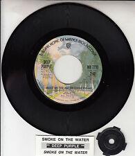"DEEP PURPLE  Smoke On The Water 7"" 45 vinyl record + juke box title strip RARE!"