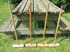 Jaques Of London 4x intermediate Croquet Mallets