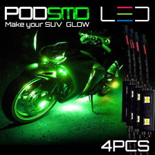 Rock LED Light Motorcycle GREEN Glow Underbody Neon Kit for Kawasaki Ninja 300
