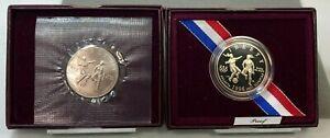 1996 S US Atlanta Olympic Games Soccer Clad PROOF & UNCIRCULATED Half Dollars