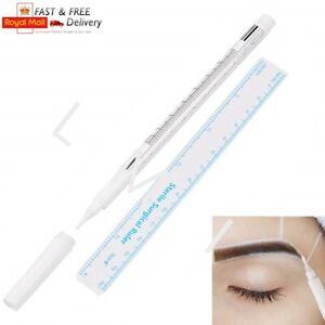 White Microblading Surgical Skin Marker Pen SPMU Permanent Makeup Outliner