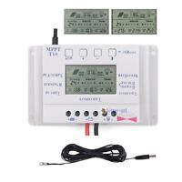 Sun YO❀H 10/20/30/40A 12V/24V MPPT Solar Charge Controller 3-Timer+16ft Cable 0ナ