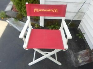 RARE Vintage McDonald's Directors Chair