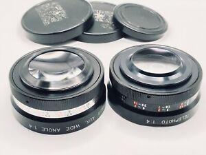 Set of Yashica Yashikor AUX Wide Angle And Telephoto 1:4 Lens