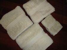 RALPH LAUREN CLASSIC BEIGE(4PC) LARGE BATH & HAND TOWEL SET 100% COTTON