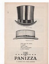 Pubblicità vintage PANIZZA CAPPELLI HAT old advert reklame werbung publicitè B7