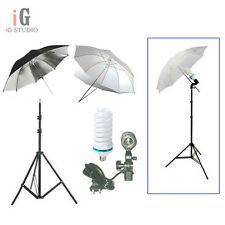Continuous Lighting Kit Light Stand + Bulb + Umbrellas + Swivel Adapter Holder