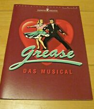 Programmheft Picturebook+Cast Musical GREASE Wien 1995 Andreas BIEBER Pia DOUWES