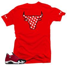 Shirt to Match Jordan 14 Gym Red Chicago Toro-Bull Stars Sneaker Tees