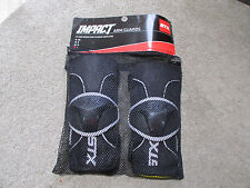 NEW STX Impact Arm Guards Adult Large Black Silver Protective Gear Padding LAX
