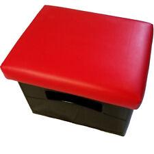 Bierkistensitzkissen Uni-Farbe-Getränkekisten-Kissen Uni-Farbe- Lederfarbe Rot