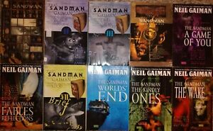 Sandman graphic novel/TPB READERS lot set run #1-10 COMPLETE + Endless Nights