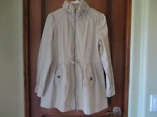 Women's Kaki Color Cotton Jacket by Will Smith SZ Med NWOT