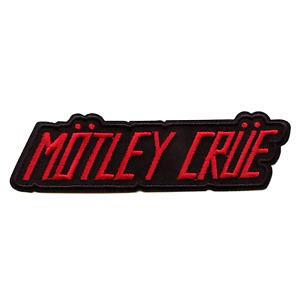 Official Motley Crue Patch Red Logo Embroidered Iron On