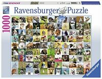 Ravensburger 99 Funny Animals 1000pc Jigsaw Puzzle Cute Animal Pets -Collectible